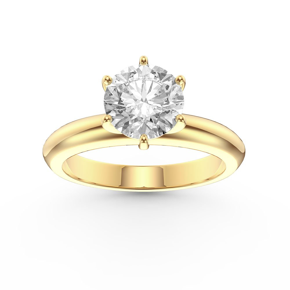 Unity 1ct Gh Si Diamond Classic Solitaire 18ct Yellow Gold
