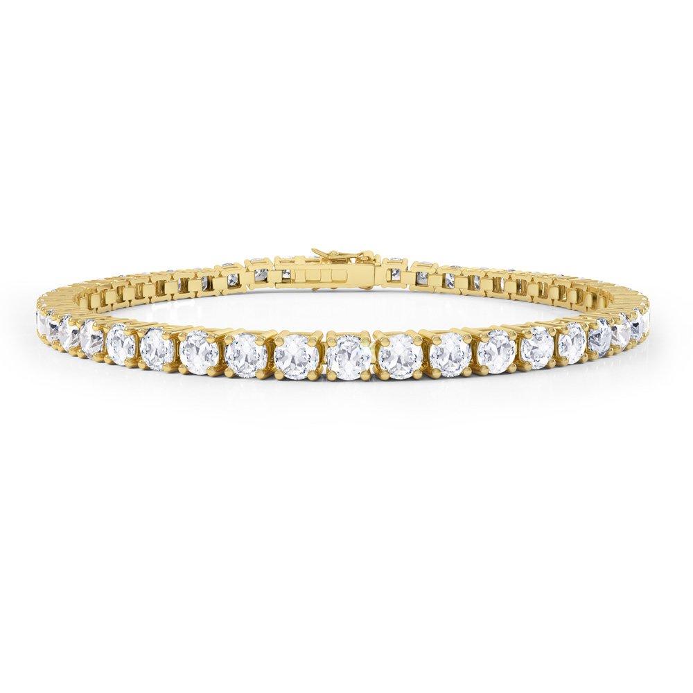 Eternity Diamond Cz 18ct Gold Plated Silver Tennis