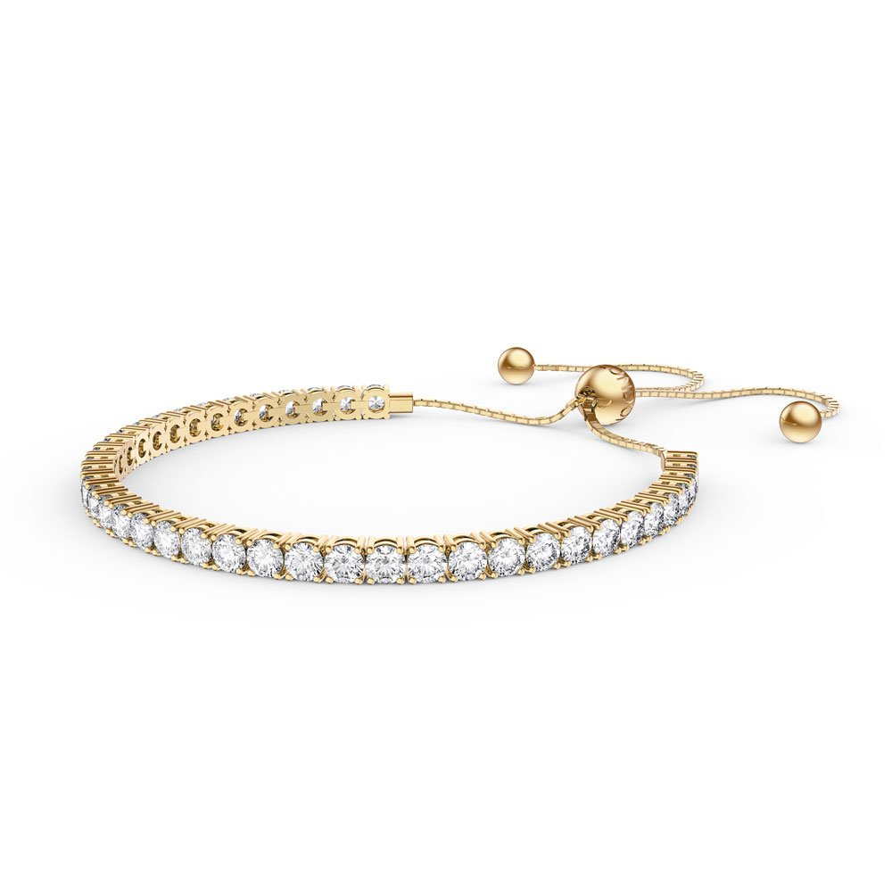 Eternity White Sapphire 18ct Gold Vermeil Fiji Friendship Tennis Bracelet