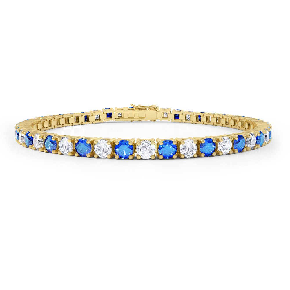 Eternity Sapphire And Diamond 2 6ct Gh Si 18ct Gold Tennis