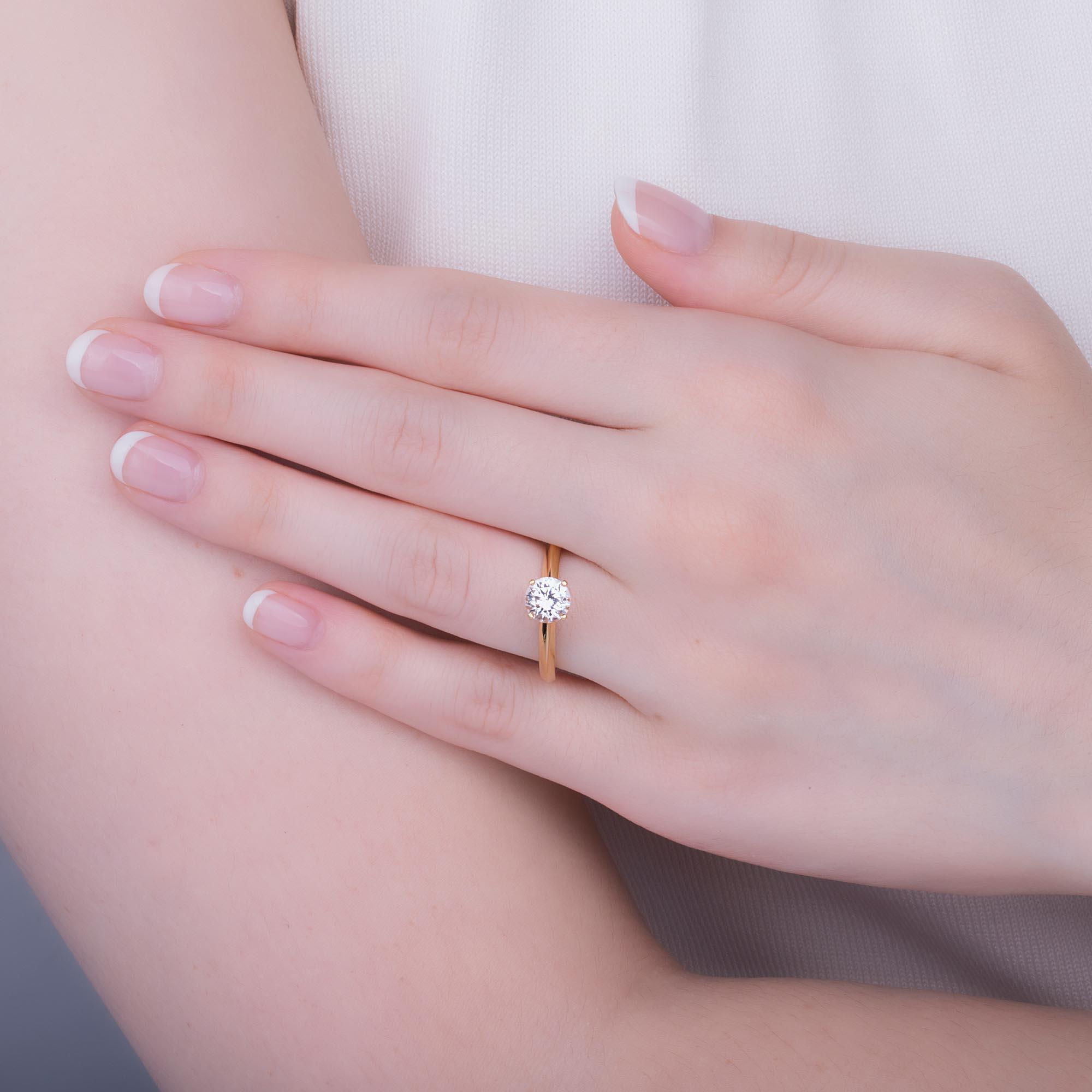 Unity 1ct White Sapphire 18ct Yellow Gold Proposal Ring:Jian London ...