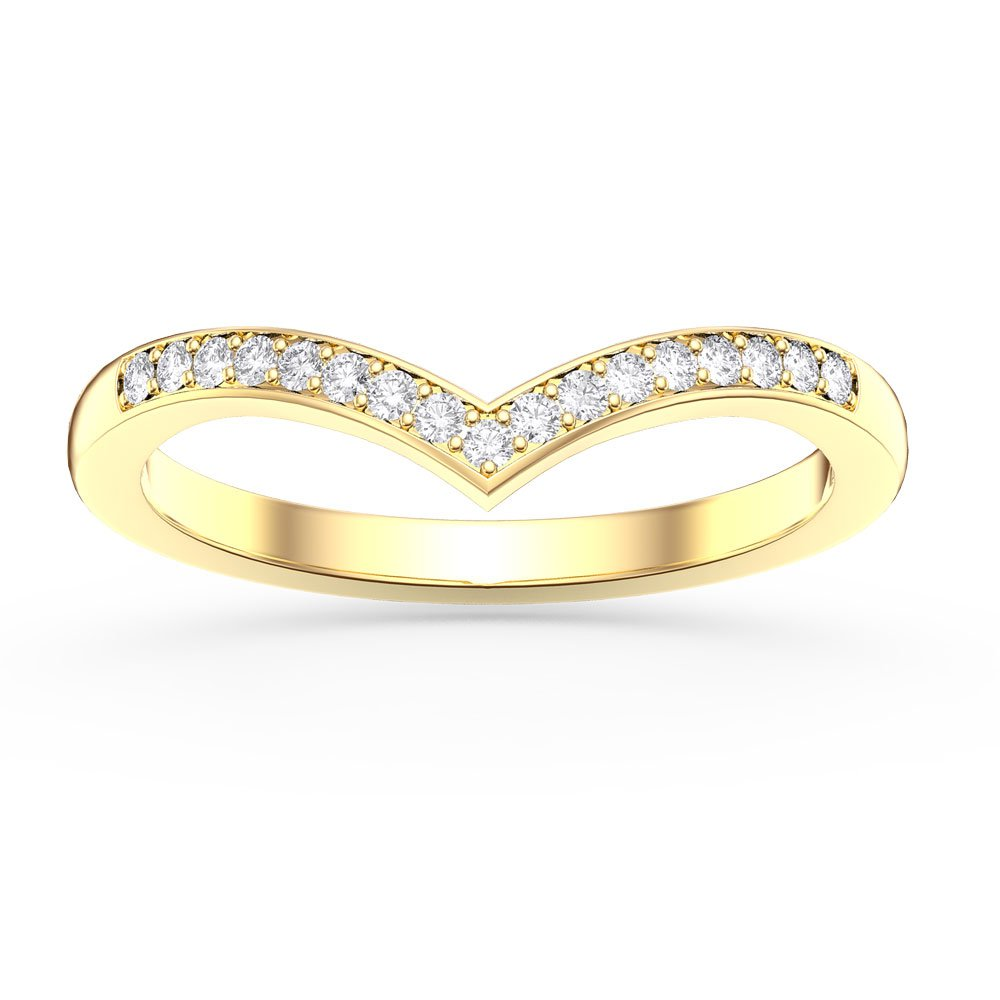 Unity Wishbone White Sapphire 18ct Gold Vermeil Proposal Ring