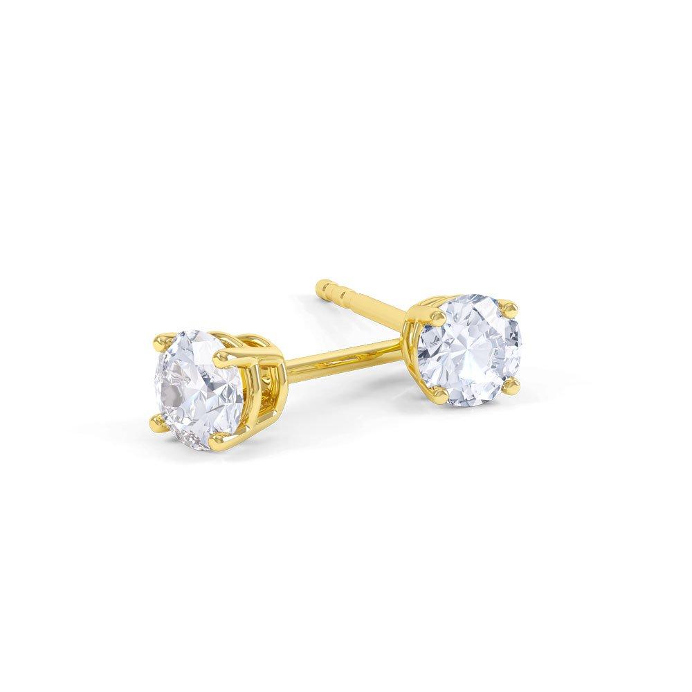 Charmisma 0 2ct Fg Vs Diamond 18ct Yellow Gold Stud Earrings Jian London