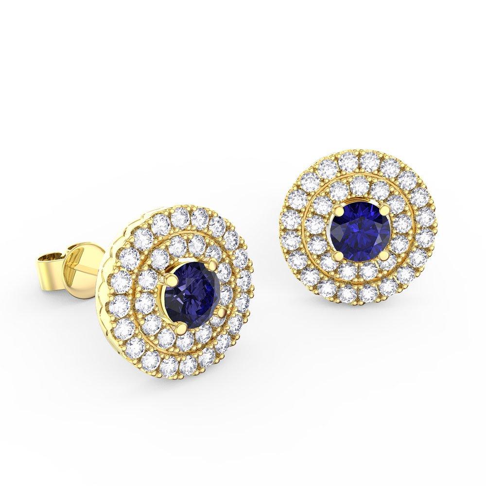 Sapphire Diamond Earrings London