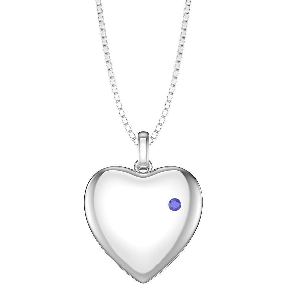 lockets created sapphire pendant aquamarine with white sterling silver in
