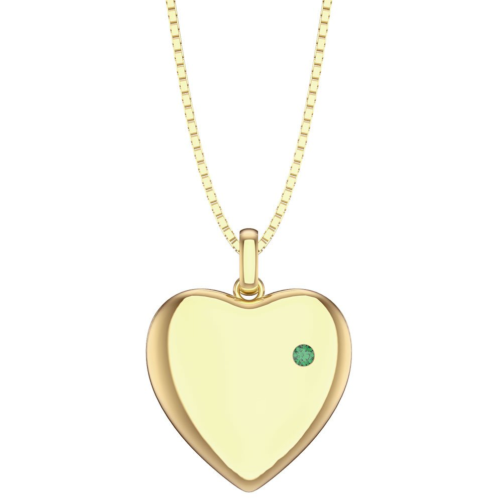 Charmisma Emerald 18ct Yellow Gold Heart Locket
