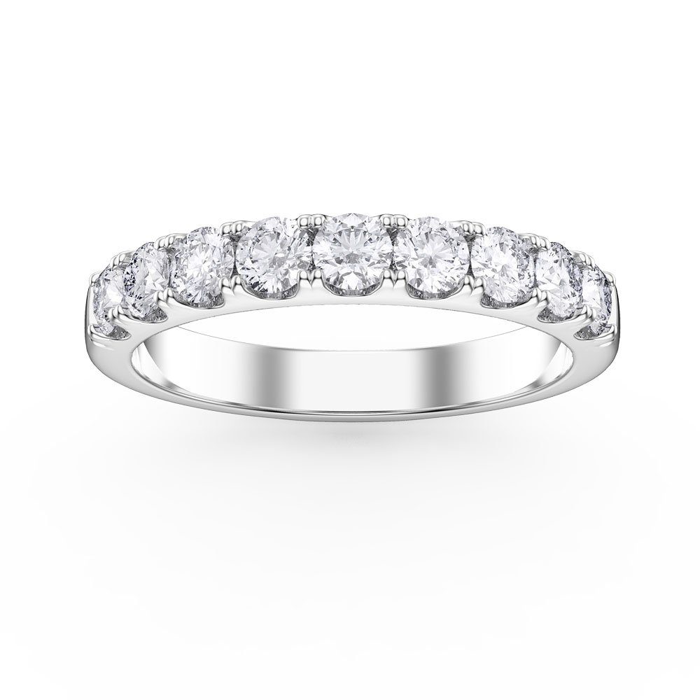 Promise 0.5ct Diamond Platinum Half Eternity Ring
