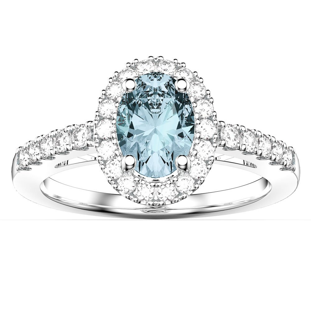 princess rings platinum emerald jian engagement halo cut diamond ring platinium