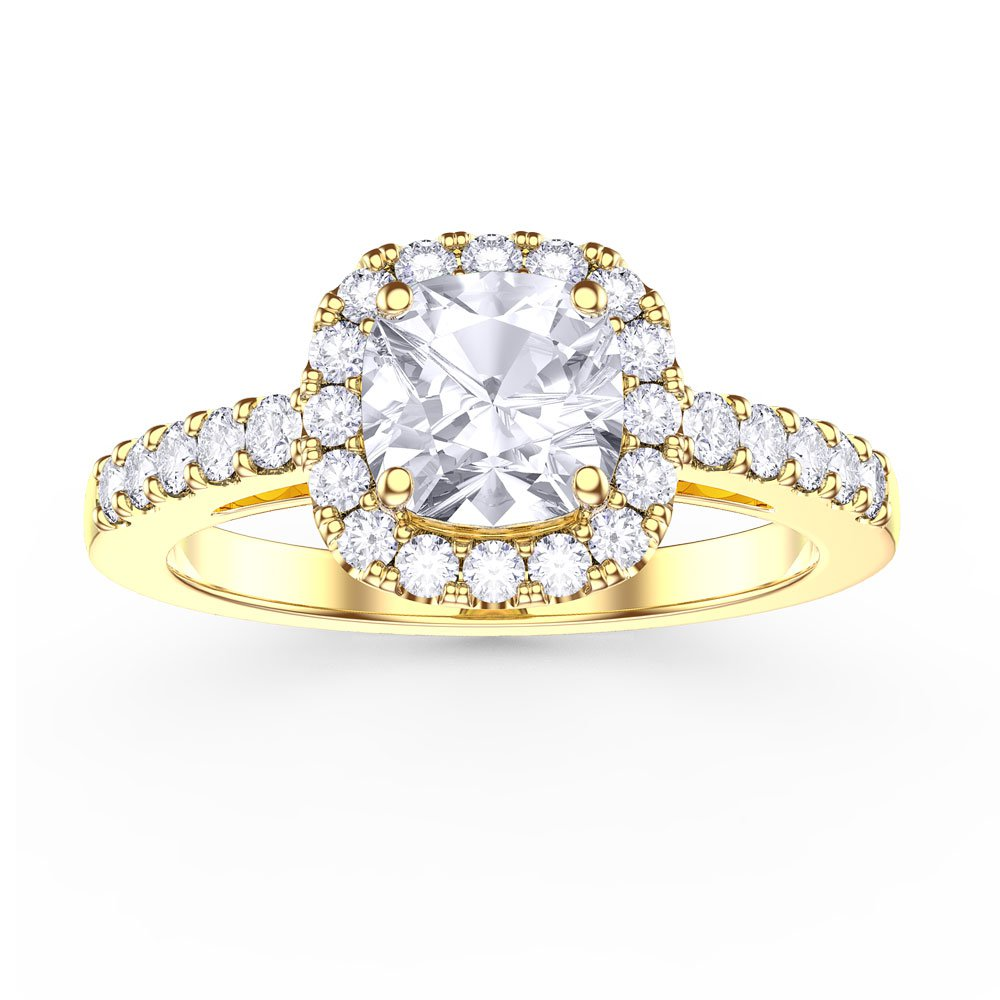certified da gold in cut ring twt diamond j engagement round ct white rings i brilliant cushion halo sidestones cusion