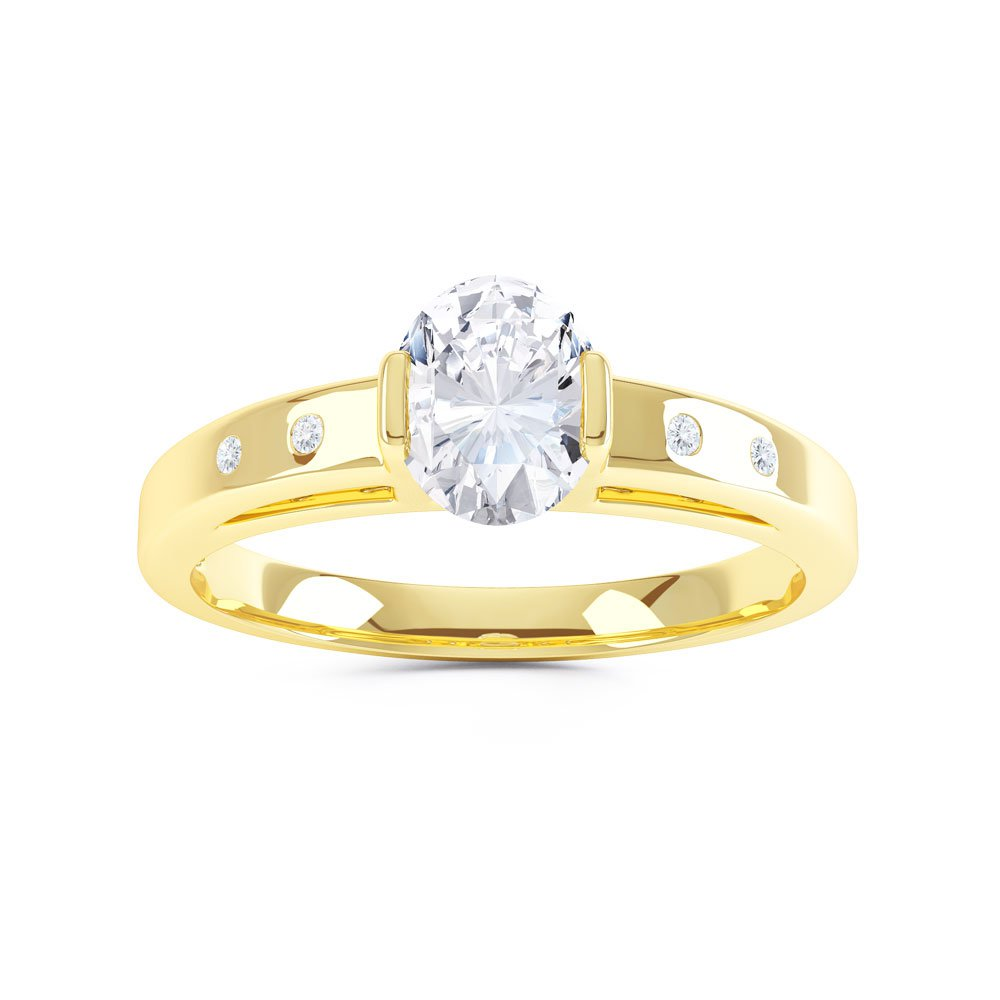 yellow gold ring natural promise sapphire flower