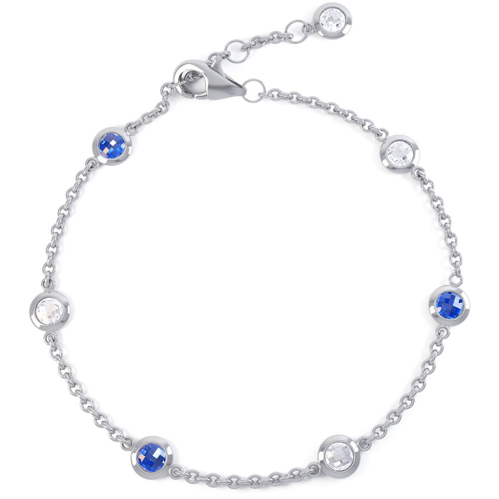 By the Yard Sapphire 18ct White Gold Bracelet