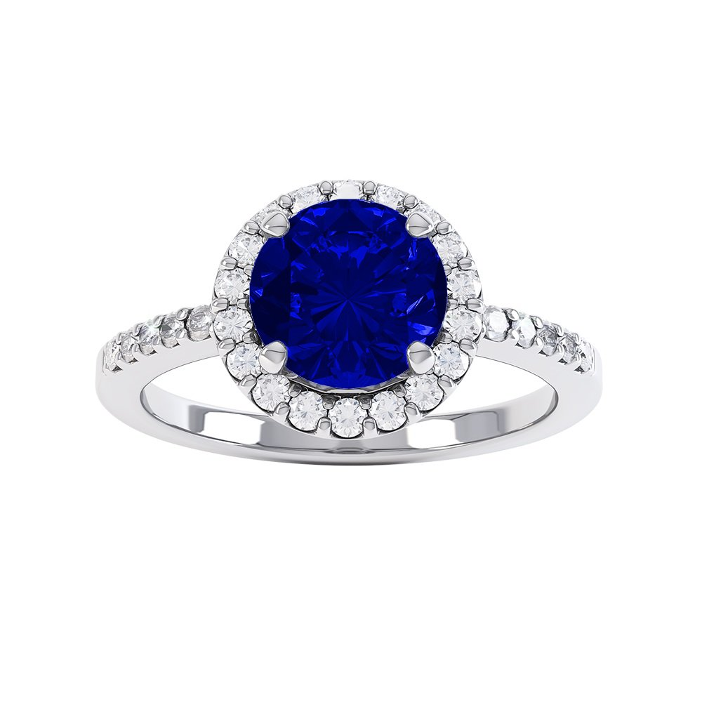 ring gold white and emerald halo princess aquamarine uk cut promise sapphire silver