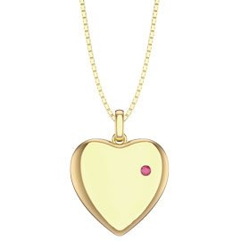 Charmisma Ruby 18ct Gold Vermeil Heart Locket