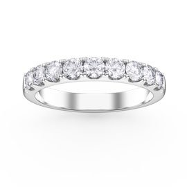 Promise 1ct G SI1 Diamond 18ct White Gold Half Eternity Ring 3mm Band