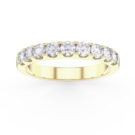 Promise 1ct G SI1 Diamond 18ct Yellow Gold Half Eternity Ring 3mm Band