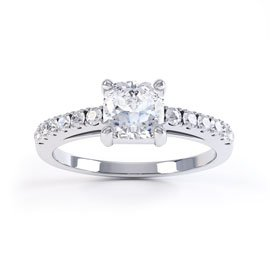 Unity Cushion Cut Diamond 18ct White Gold Engagement Ring