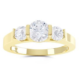 Unity Three Stone Diamond 18ct Yellow Gold Engagement Ring
