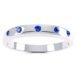 Unity Sapphire 18ct White Gold Wedding Ring Band