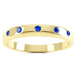 Unity Sapphire 18ct Yellow Gold Wedding Ring Band