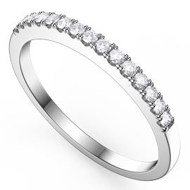 Promise Diamond 18ct White Gold Half Eternity Ring