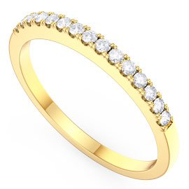 Promise White Sapphire 18ct Gold Vermeil Half Eternity Ring