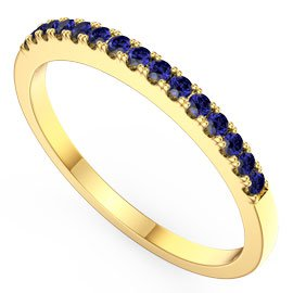 Promise Sapphire 18ct Gold Vermeil Half Eternity Ring