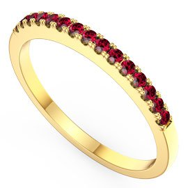 Promise Ruby 18ct Gold Vermeil Half Eternity Ring