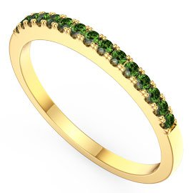 Promise Emerald 18ct Gold Vermeil Half Eternity Ring