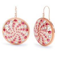 Fibonacci Ruby and White Sapphire 18ct Rose Gold Vermeil Earrings