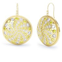 Fibonacci Yellow and White Sapphire 18ct Gold Vermeil Earrings